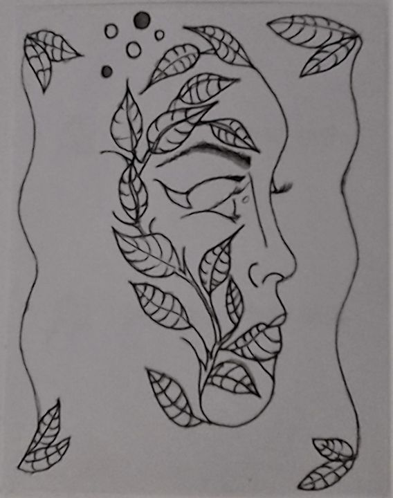 Woman in the Leaves - Bigblueyeseall