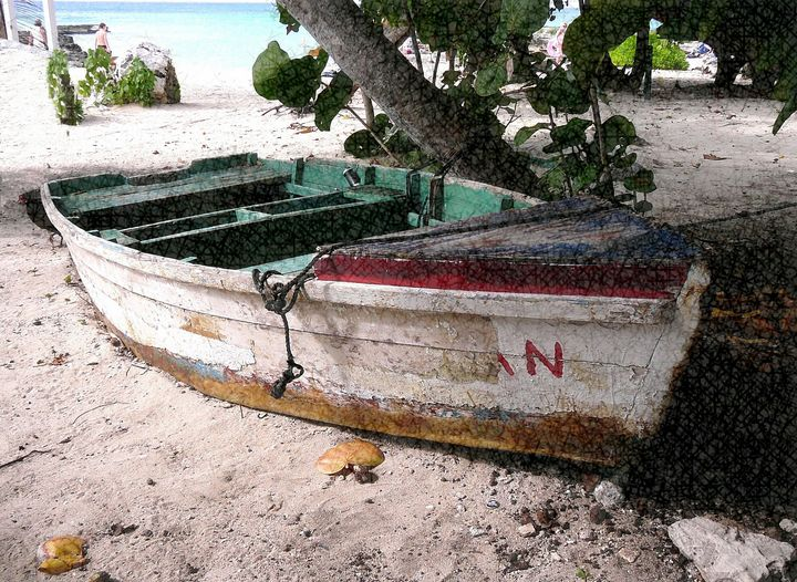 Working Boat - Natural Impressions by Nancy