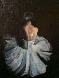 Ballerina Oil on Canvas