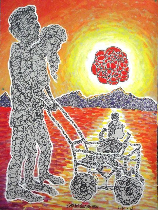"""The rising sun"""""""" - 北方艺术画廊"""