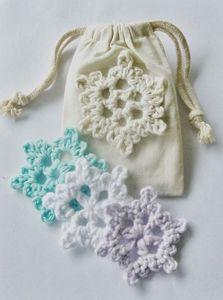 Snowflake ornament, crochet decor