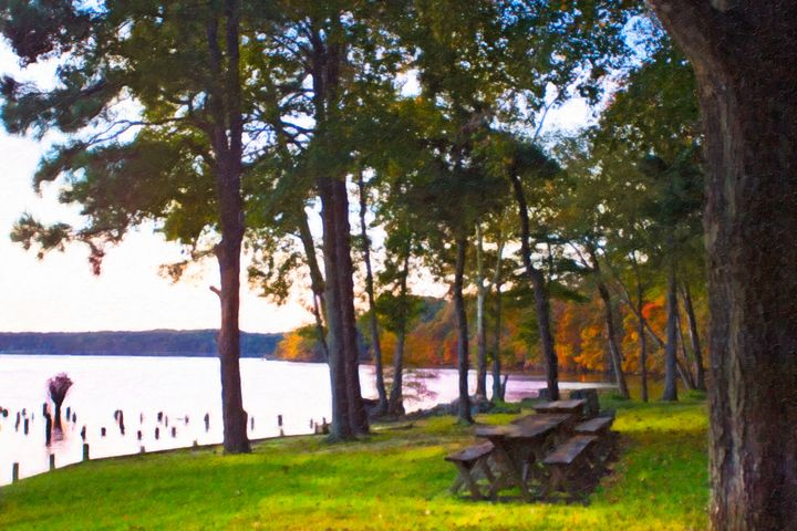 Summer Gathering Place - Peaceful Prints & Wall Murals