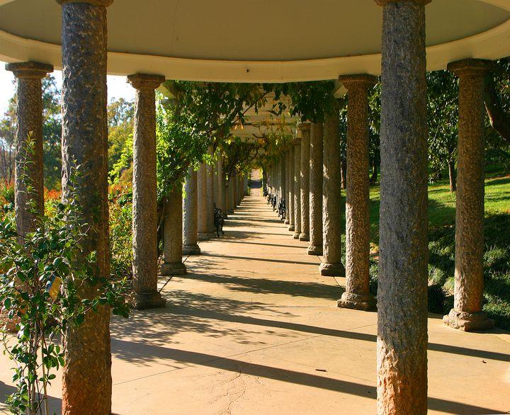 The Italian Garden Pergola at Maymon - Peaceful Prints & Wall Murals