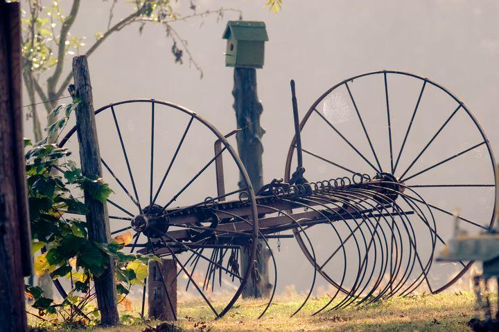 Days Gone Bye - Old Farm Hay Rake - Peaceful Prints & Wall Murals