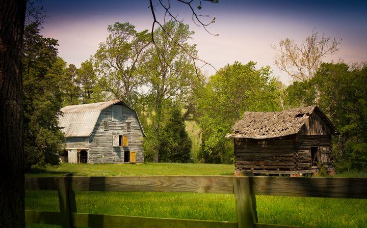Nostalgic Meadow Farm - Peaceful Prints & Wall Murals