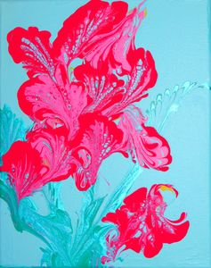 Fluid Art Flower