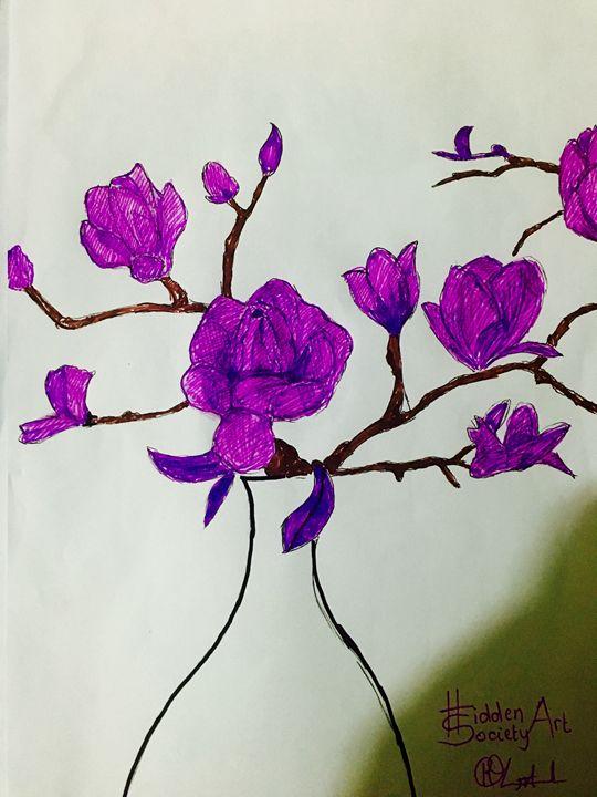 Purple Flower - Hidden Art Society