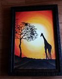 Acrylic hand-painted art work