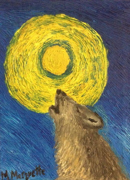 Howling at the moon - Matt Marquette