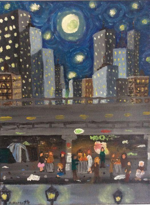 Starry night in the city - Matt Marquette