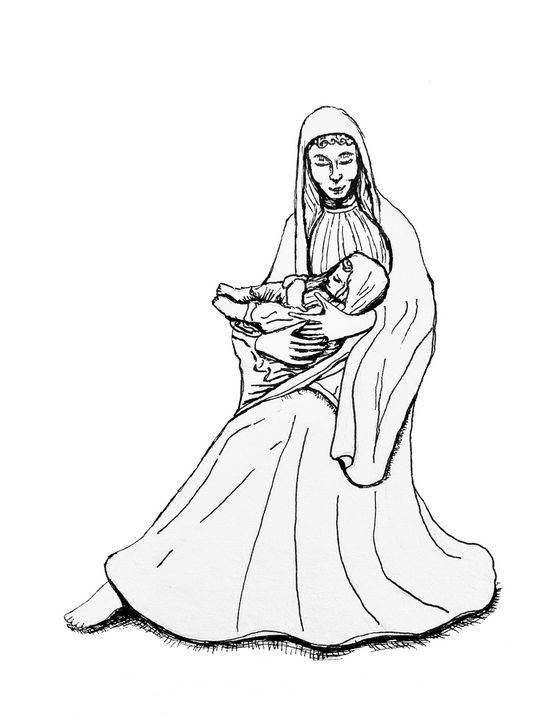 Mother Mary with Child - 417 Studios - Visual Art & Design by Kyle Keillor