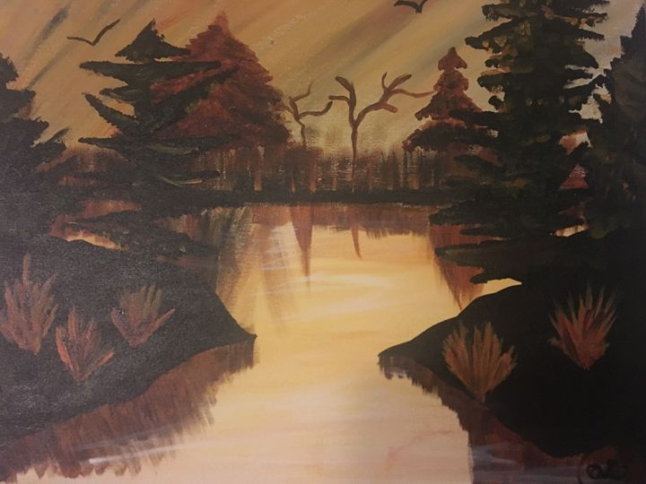 fall scene - Alicias Studio paintings