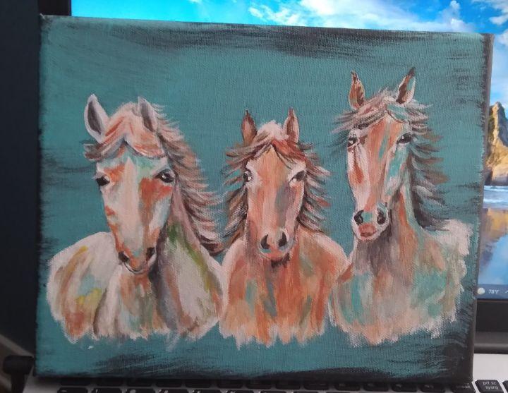 Wild Horses Run Free - Paint Patch Art
