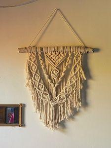 Birch Wood Macrame Wall Hanging