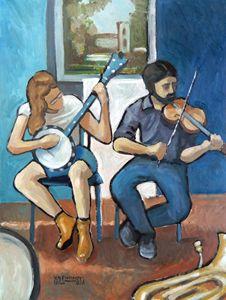 Street Musicians, Charlottesville - Holewinski