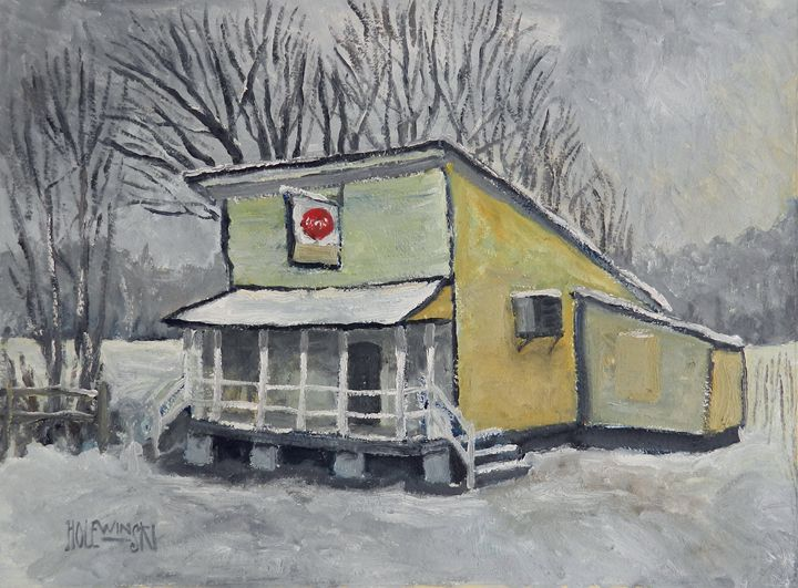 Country Store In Snow - Holewinski