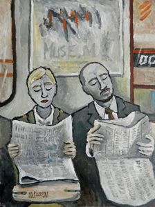 New York Subway  [SOLD] - Holewinski