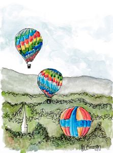 Three Balloons  [sold] - Holewinski