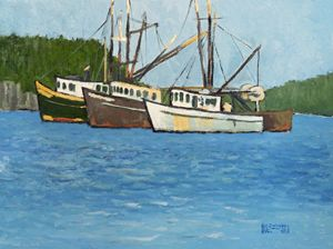Three Boats on the Manasquan - Holewinski