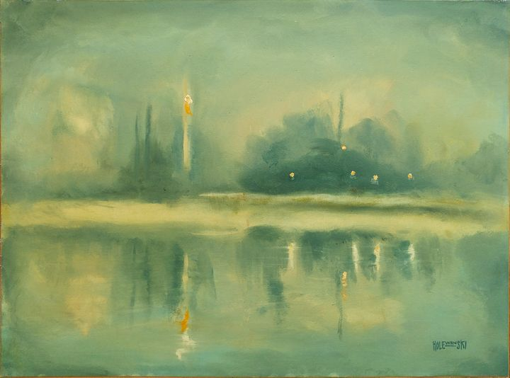 Evening Water with Fog  [sold] - Holewinski