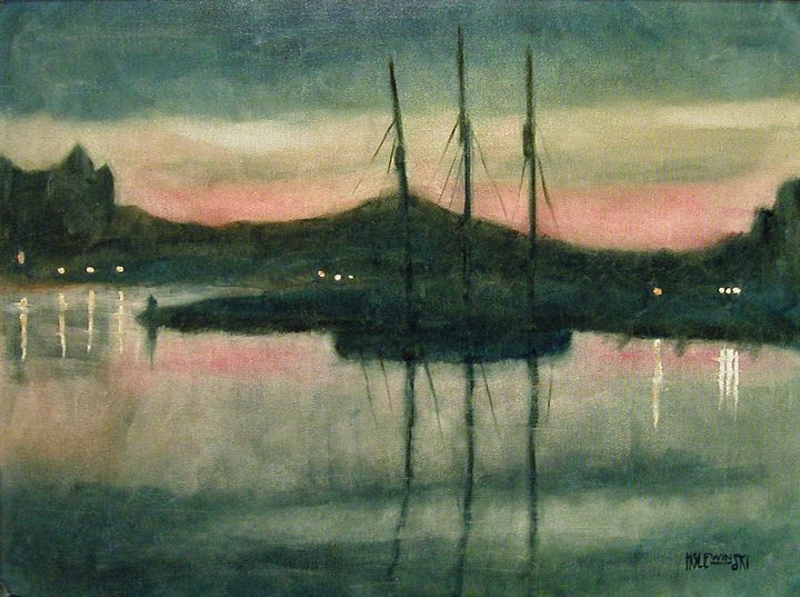 Evening Victoria Harbor    [SOLD] - Holewinski