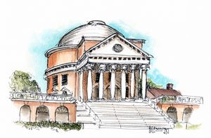 The Rotunda At UVA  [sold] - Holewinski