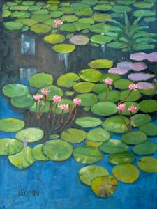 Water Lilies, Homage To Monet - Holewinski