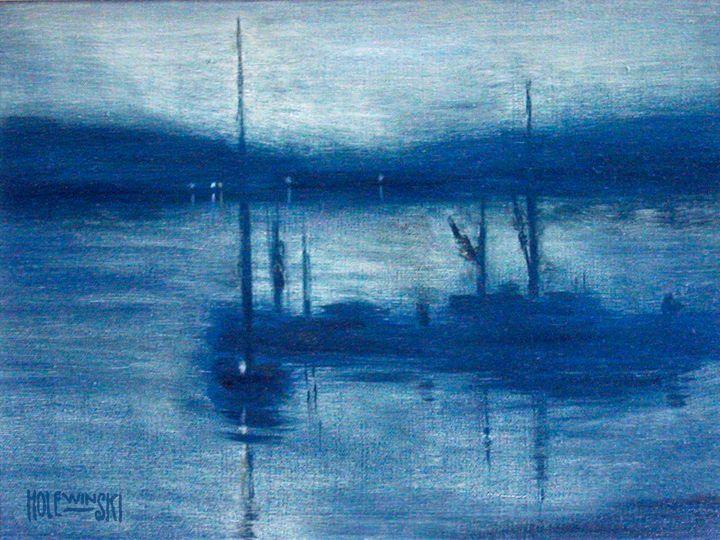 Fog on the Navesink River - Holewinski