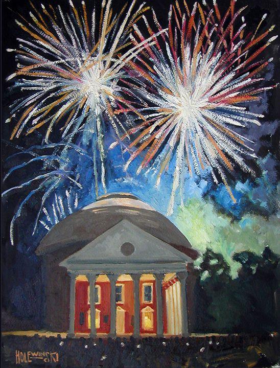 Fireworks Over The Rotunda   [SOLD] - Holewinski