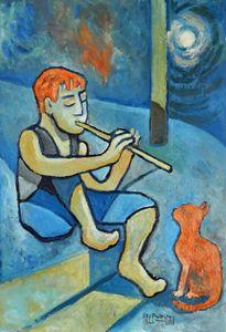 Boy With Orange Cat