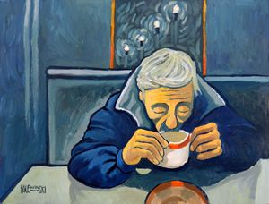 Late Night Coffee Shop  [SOLD] - Holewinski