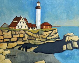 Maine Lighthouse - Holewinski