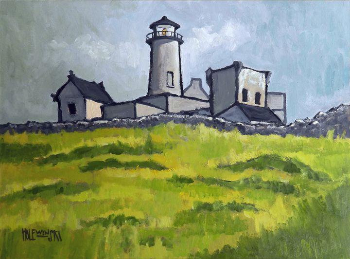 Old Stone Lighthouse Inishmore - Holewinski