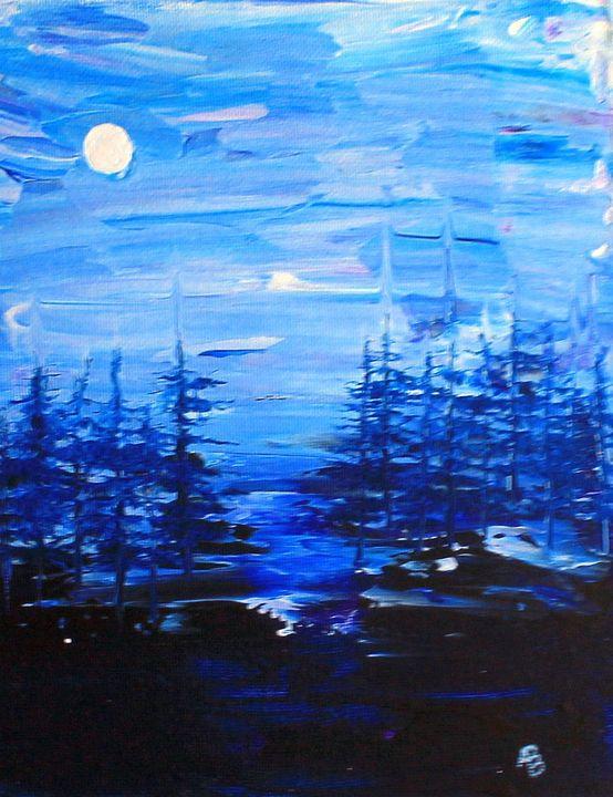 Trees at Night - ABBuckler