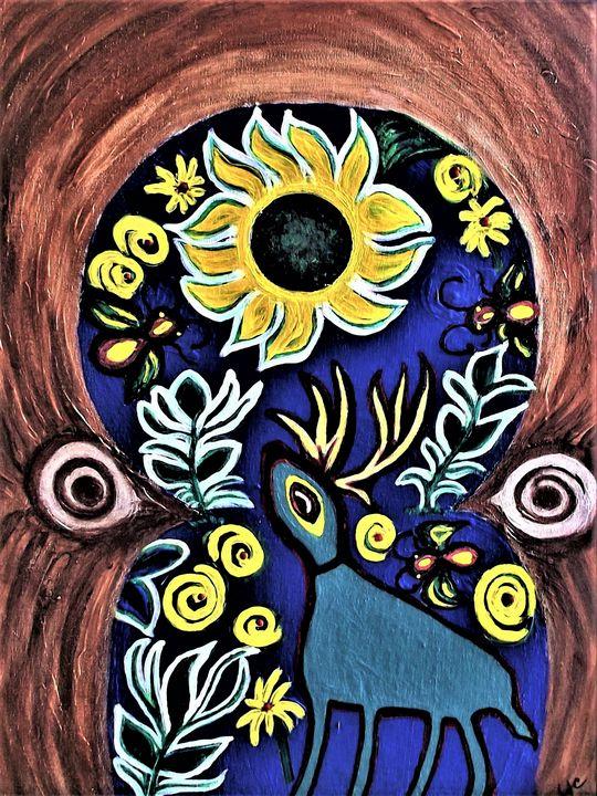 Inside the Tree Trunk - Saundra Amos Cornett originals