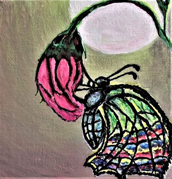 Butterfly Rose - Saundra Amos Cornett originals