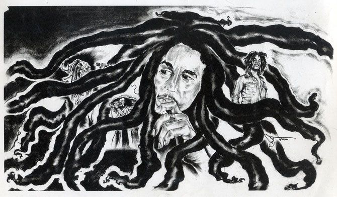 Bob Marley the Great! - Jimmie Williams Experience Charcoal Gallery
