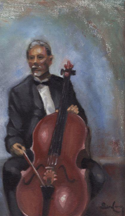 Man with Cello - ben leUang's Gallery