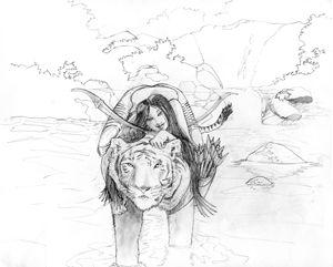 Sam on a Tiger