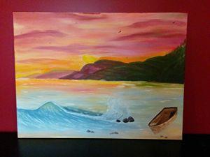 Polynesian Sunset on the Beach