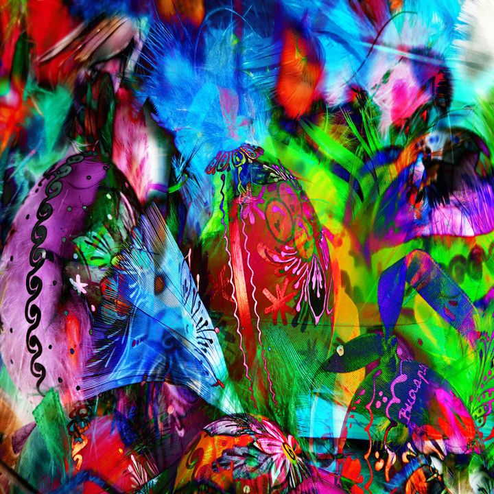 Carnivale 1 - Laura Conroy Abstract Artist
