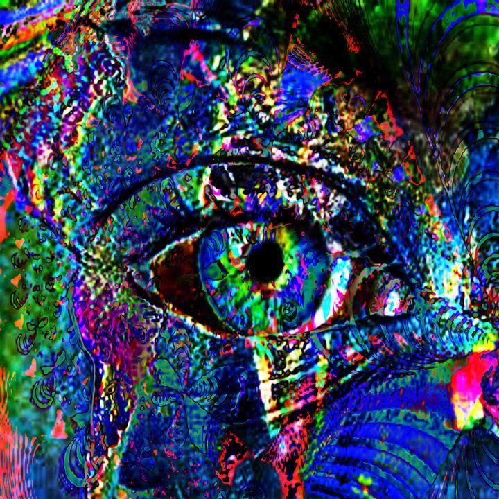 diseased eye - Laura Conroy Abstract Artist