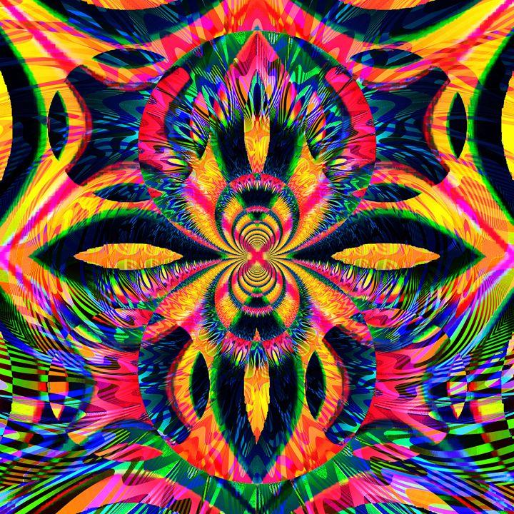 Flaming - Laura Conroy Abstract Artist