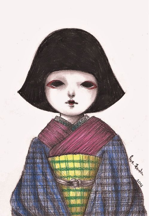 Japanese doll - My drawings - Drawings & Illustration