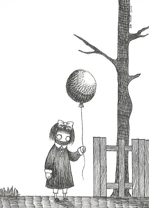 Balloon girl - My drawings