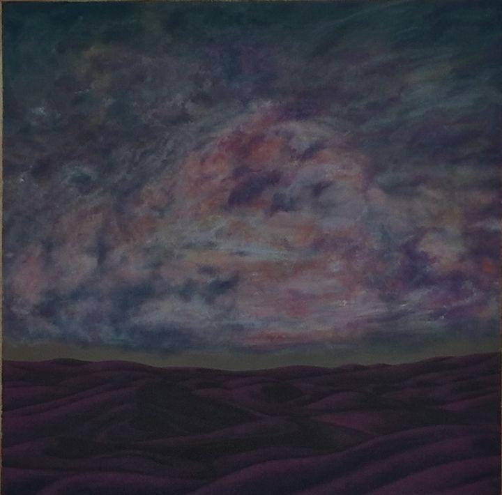 Sand Dunes and Clouds - coloringboxstudio@gmail.com