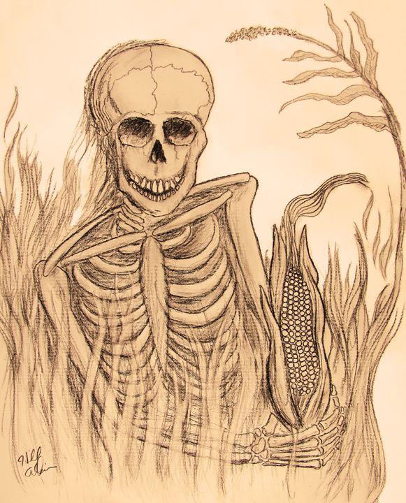 GMO Corn Calavera - Design Bones