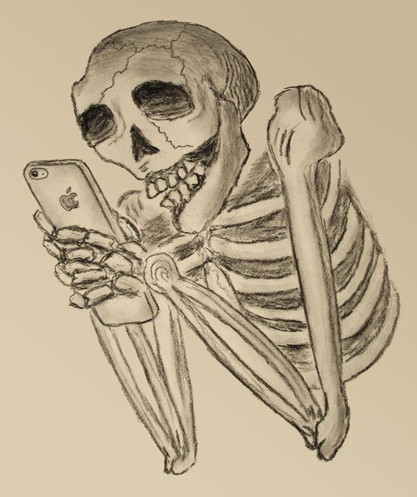 Mobile Calavera Design Bones Drawings Illustration Humor