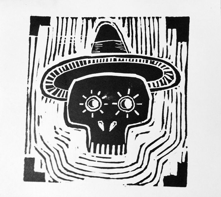 Day of the Deads Skull - WOODCUTS