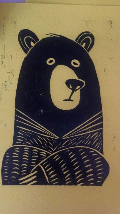Grizzly Bear - WOODCUTS